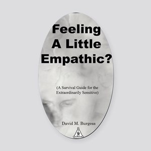 2-Empathic-cover Oval Car Magnet