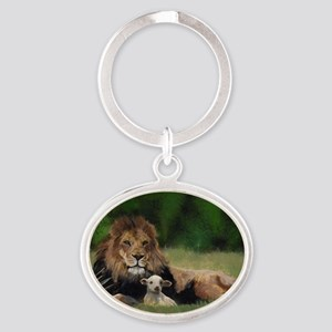 You Are Never Alone Oval Keychain
