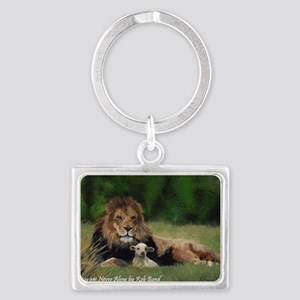 You Are Never Alone Landscape Keychain
