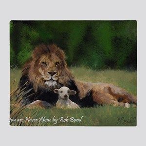 You Are Never Alone Throw Blanket