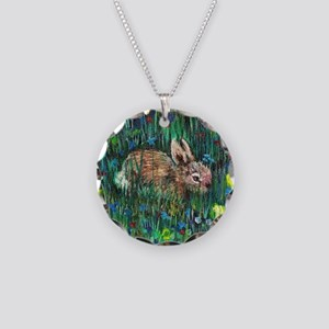 Baby Bunny2 Necklace Circle Charm