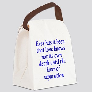 Hour of Separation Canvas Lunch Bag
