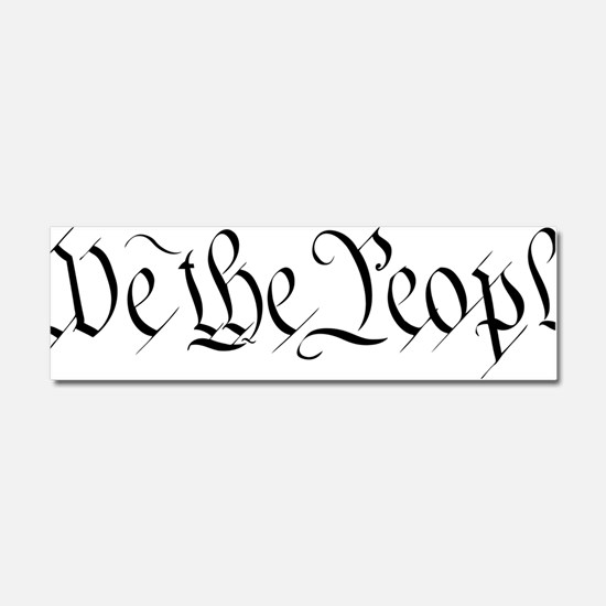 We-the-people-(white-shirt) Car Magnet 10 x 3