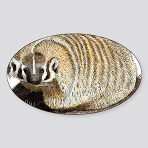 American Badger Sticker (Oval)