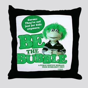 Germs-not just for kids Throw Pillow