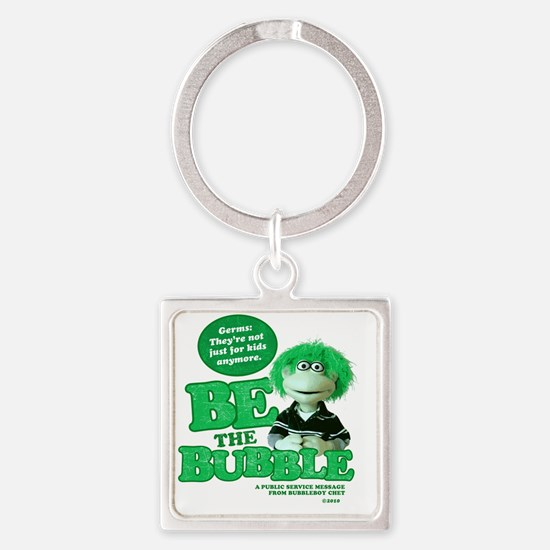 Germs-not just for kids Square Keychain