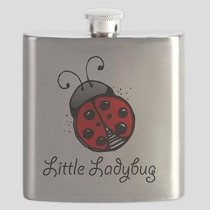 Ladybug -white Flask