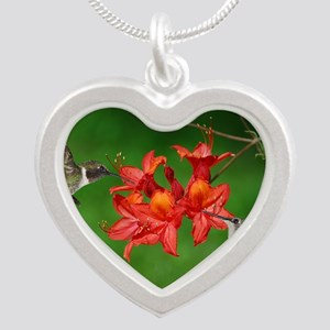 9x12_print 2 Silver Heart Necklace