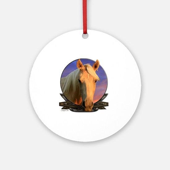 palomino horse Round Ornament