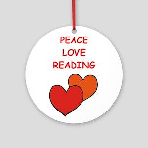 reading Ornament (Round)