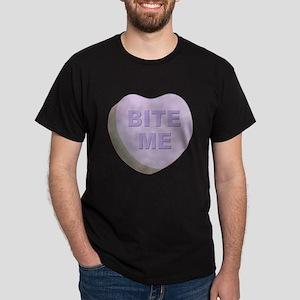 Bite Me Valentine Heart (Front) Dark T-Shirt