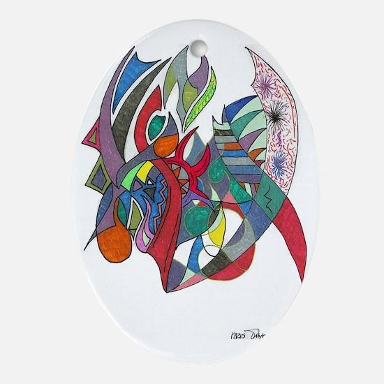 kris art3 Oval Ornament