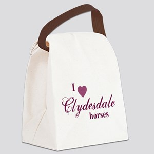 Clydesdale horses Canvas Lunch Bag