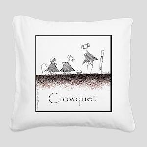 Crowquet 10x10 Apparel Templa Square Canvas Pillow