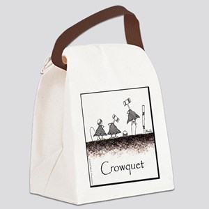 Crowquet 10x10 Apparel Template Canvas Lunch Bag