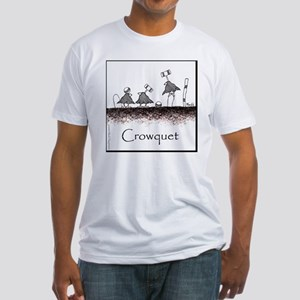 Crowquet 10x10 Apparel Template Fitted T-Shirt