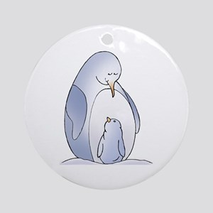 Blue Penguins Ornament (Round)