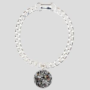 Dead Writer Collage Charm Bracelet, One Charm