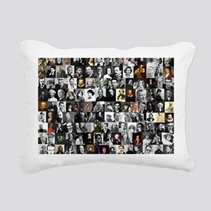 Dead Writer Collage Rectangular Canvas Pillow
