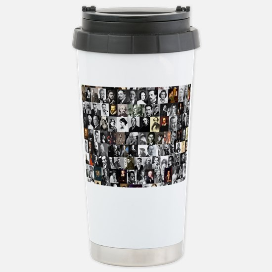 Dead Writer Collage Stainless Steel Travel Mug