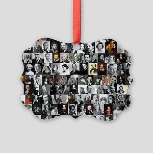 Dead Writer Collage Picture Ornament