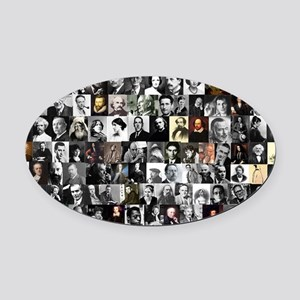 Dead Writer Collage Oval Car Magnet