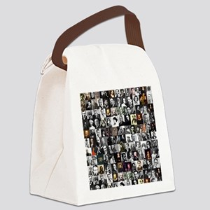 Dead Writers Collage Canvas Lunch Bag
