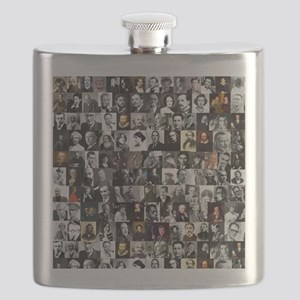 Dead Writers Collage Flask
