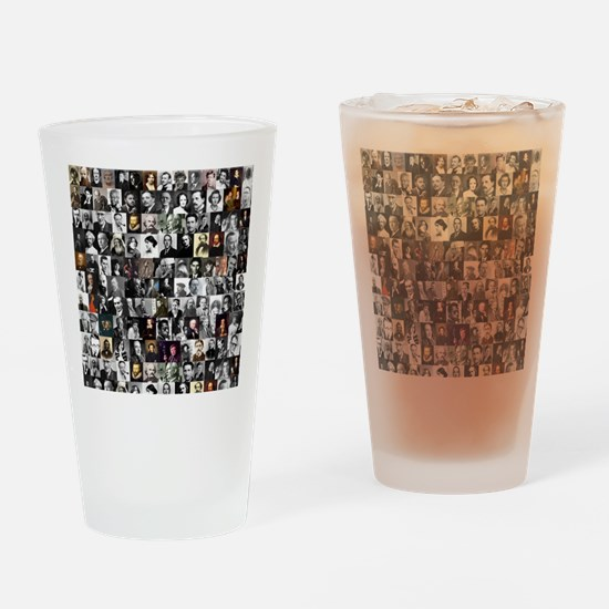 Dead Writers Collage Drinking Glass