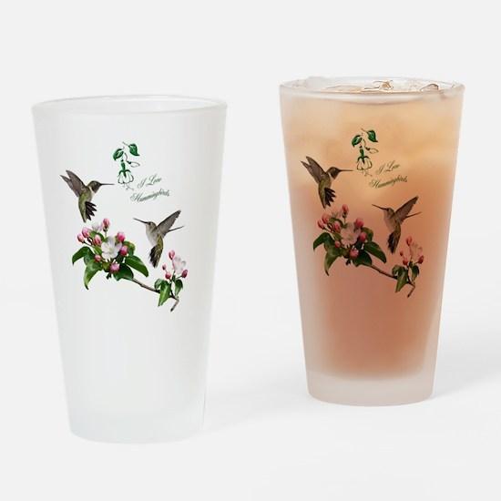 12 X hummingbirds Drinking Glass