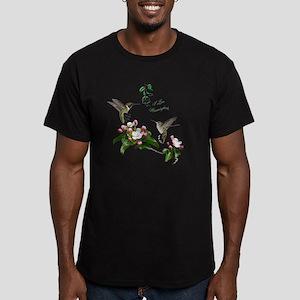12 X hummingbirds Men's Fitted T-Shirt (dark)