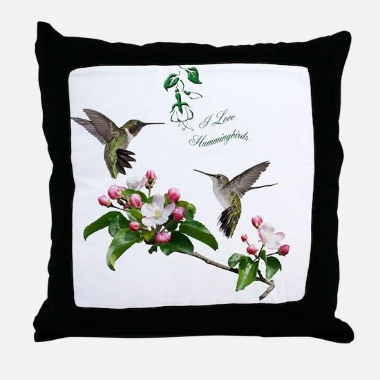 12 X hummingbirds Throw Pillow