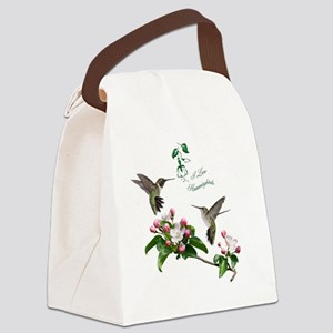 12 X hummingbirds Canvas Lunch Bag