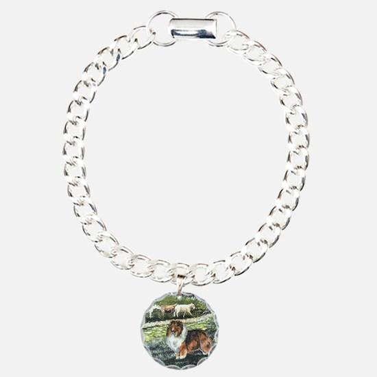 sable sheltie with sheep Bracelet