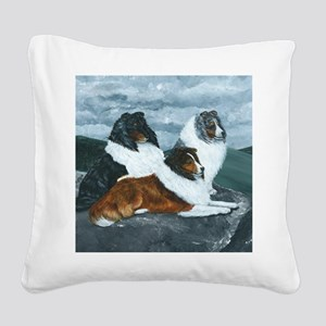 Mountain Mist Sheltie Square Canvas Pillow