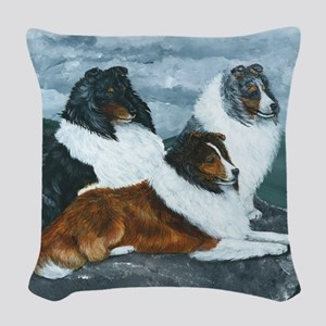 Mountain Mist Sheltie Woven Throw Pillow