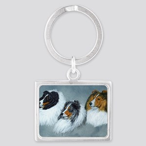 Sheltie Headstudies Landscape Keychain