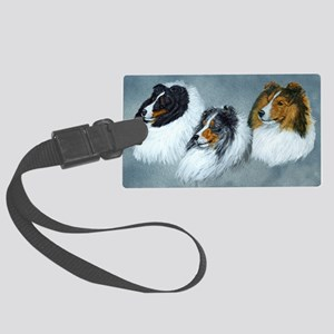 Sheltie Headstudies Large Luggage Tag