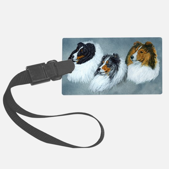 Sheltie Headstudies Luggage Tag