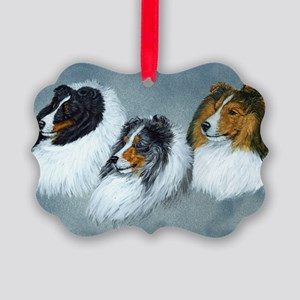Sheltie Headstudies Picture Ornament