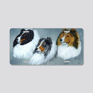 Sheltie Headstudies Aluminum License Plate