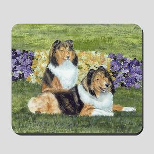 shetlie flower pair Mousepad