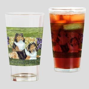 shetlie flower pair Drinking Glass