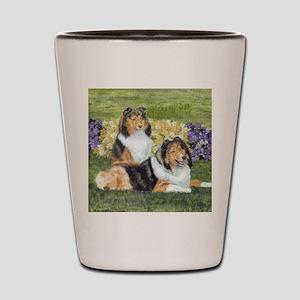 shetlie flower pair Shot Glass