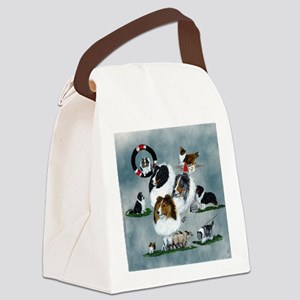 sheltie versatility Canvas Lunch Bag