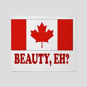 CANADA,BEAUTY EH? Throw Blanket