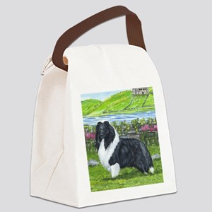 Bi Black Sheltie Canvas Lunch Bag