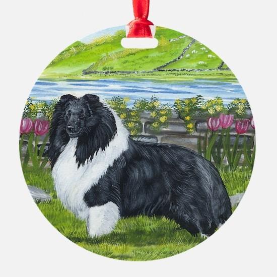 Bi Black Sheltie Ornament