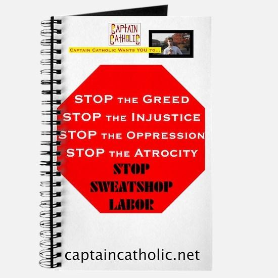 Captain Catholic Wants YOU - Stop Sweatsho Journal
