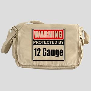Warning 12 Gauge Messenger Bag